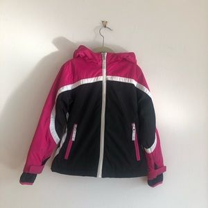 Lands End Insulated Hooded Thumb Hole Ski Coat